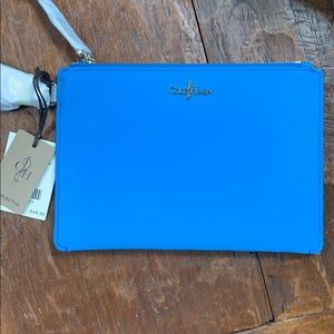Cole Haan wristlet in sapphire blue - reflective!